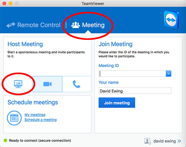 Team viewer preview set up instructions.