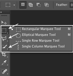 Selection tools in Photoshop